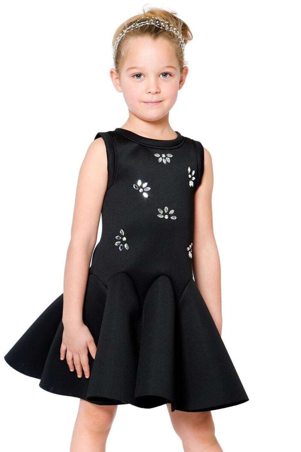 Deux Par Deux Neoprene Bejeweled Dress - Side Cropped Image