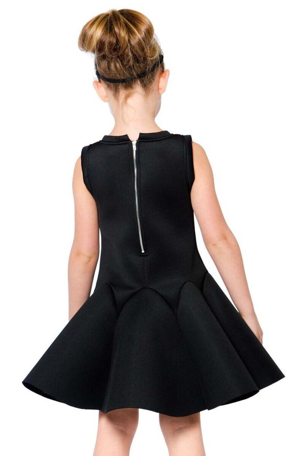 Deux Par Deux Neoprene Bejeweled Dress - Back Cropped Image
