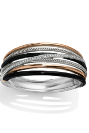 Brighton  Neptune's Rings Black Hinged Bangle - Product Mini Image
