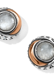 Brighton Neptune's Rings Crystal Button Earrings JA590C - Product Mini Image