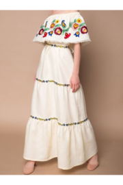 My Sleeping Gypsy  Neroli Off The Shoulder Embroidered Mix Tier Dress - Product Mini Image