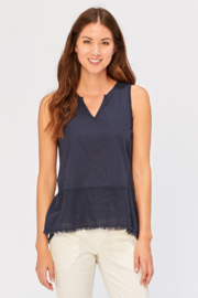 XCVI Wearables Nerys Frayed Hem Tank - Product Mini Image