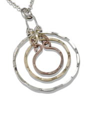 Anju Handcrafted Artisan Jewelry Nesting Circles Necklace - Product Mini Image