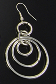 Anju Handcrafted Artisan Jewelry Nesting Hoops Earring - Product Mini Image