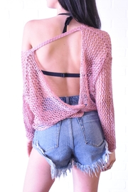 debut Netted Crochet Top - Side cropped