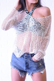 debut Netted Crochet Top - Front cropped