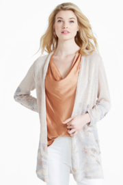 Nic + Zoe Lightweight neutral colored long cardigan - Product Mini Image