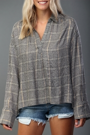 Lush Neutral Plaid Top - Product Mini Image