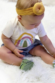 Emerson & Friends Neutral Rainbow Onesie - Product Mini Image