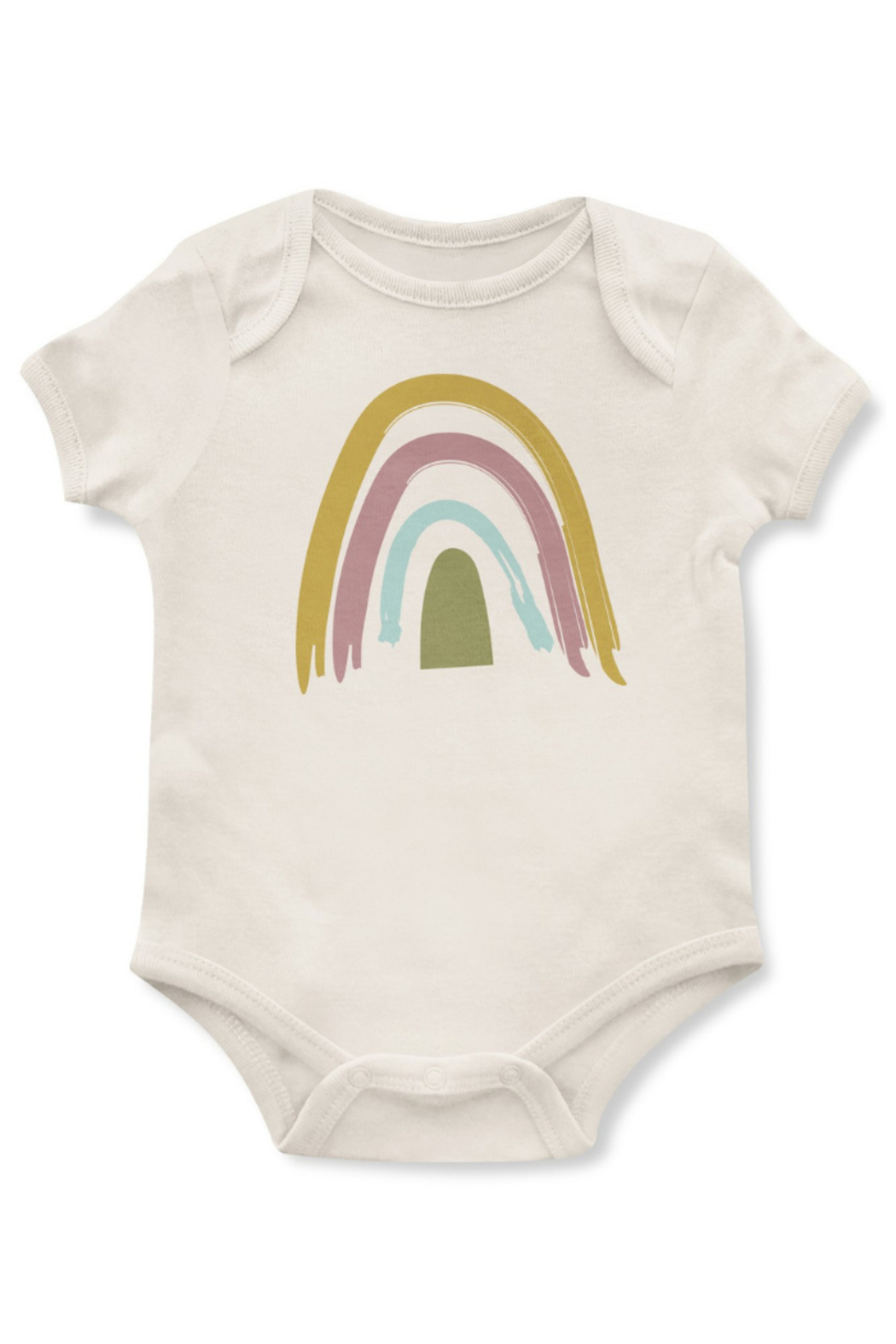 Emerson & Friends Neutral Rainbow Onesie - Front Cropped Image