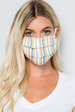 Pink 4 You Striped Mask - Product List Image