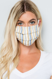 Pink 4 You Striped Mask - Product Mini Image