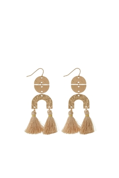 Mimi's Gift Gallery Neutrals Tassels Earrings - Product List Image
