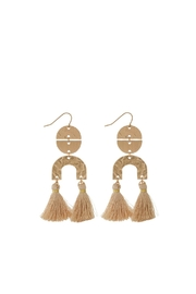 Mimi's Gift Gallery Neutrals Tassels Earrings - Product Mini Image