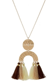 Mimi's Gift Gallery Neutrals Tassels Necklace - Product Mini Image