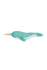 Mon Ami 'Nev' Narwhal Baby Rattle - Front cropped