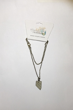 Gleeful Peacock Nevada State Necklace - Alternate List Image
