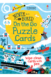 Usborne Never Get Bored: On the Go Puzzle Cards - Product Mini Image
