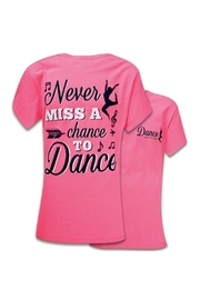 Southern Couture Never-Miss-A-Chance-To-Dance Youth Tee-Shirt - Front cropped