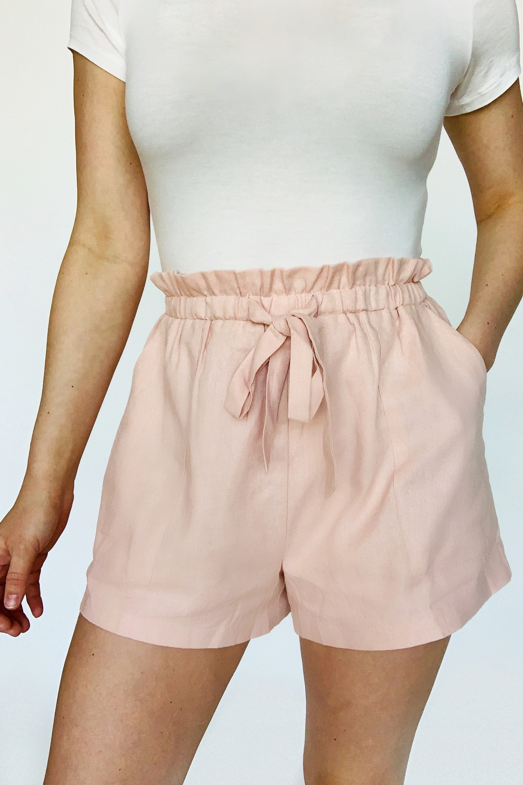 Lush Clothing  Never Too Late Shorts - Front Cropped Image