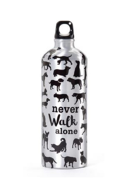 Gift Craft NEVER WALK ALONE WATER BOTTLE - Front cropped
