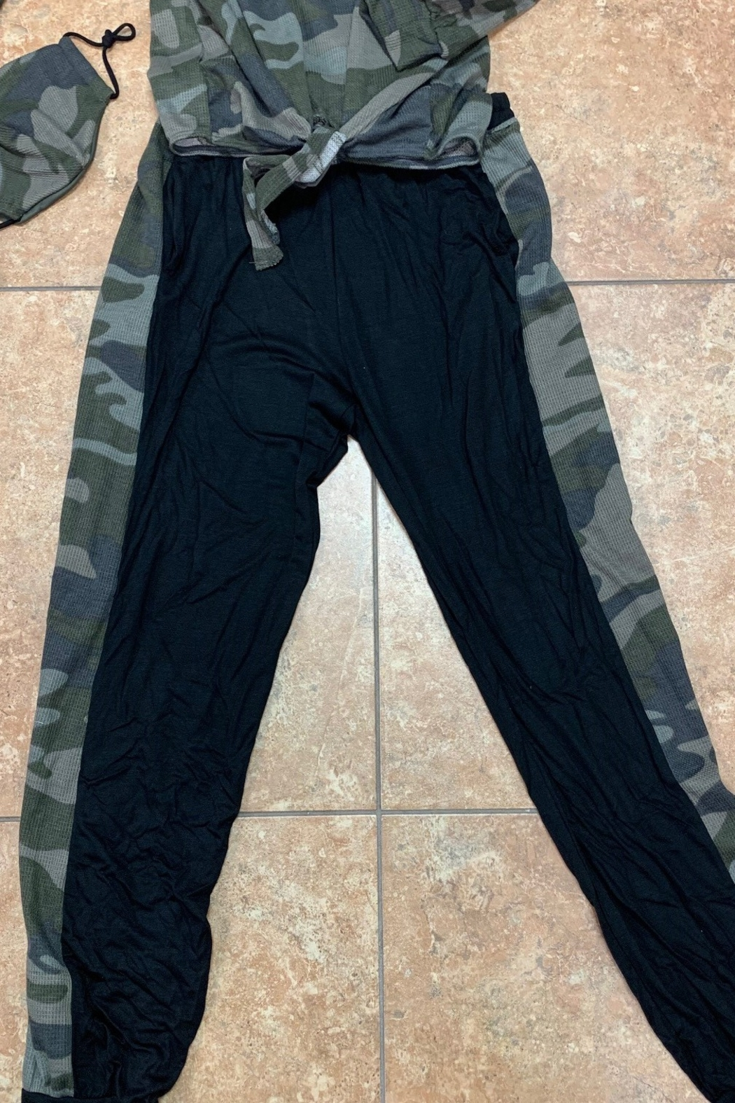 Vava by Joy Hahn New Army Side Print Jogger - Front Full Image