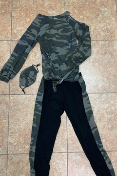 Vava by Joy Hahn New Army Side Print Jogger - Product List Image