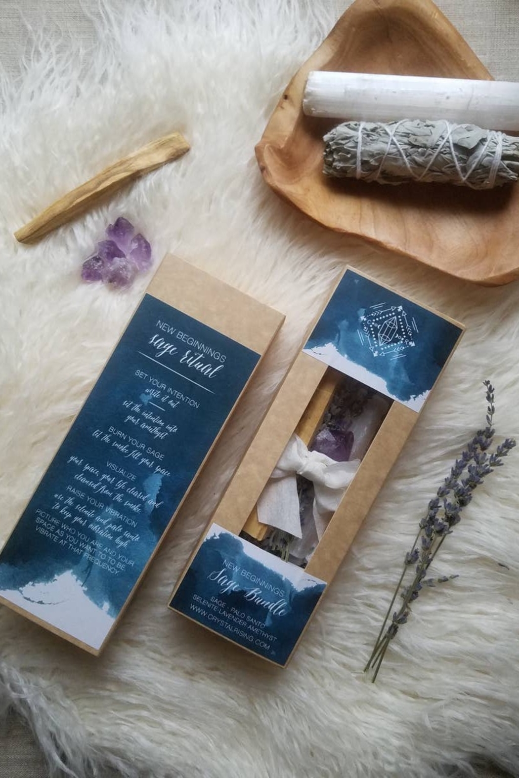 Crystal Rising New Beginings Sage Bundle Gift Set - Main Image