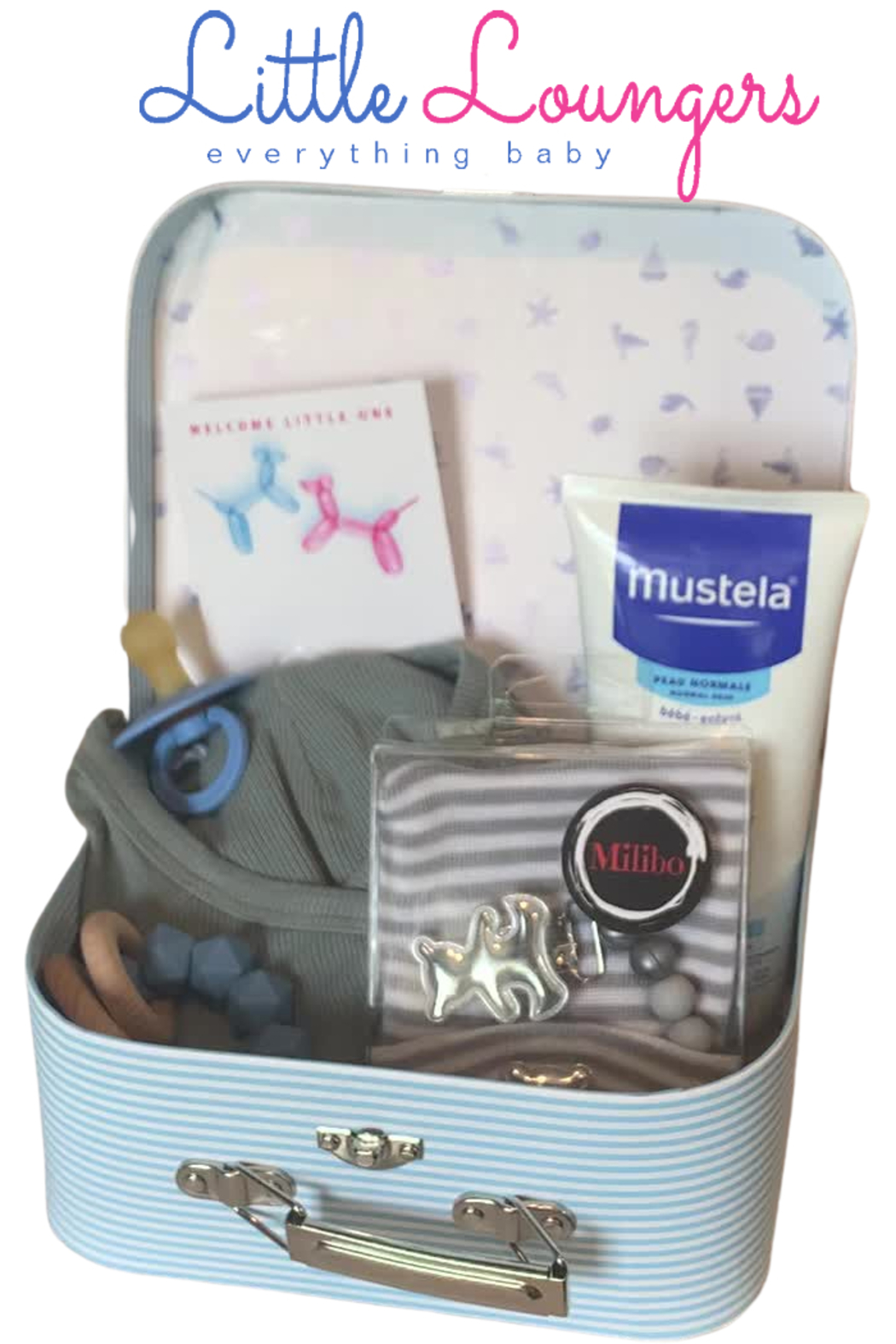 Little Loungers New Born Infant Baby Blue theme Keep Sake Gift Set by - Main Image