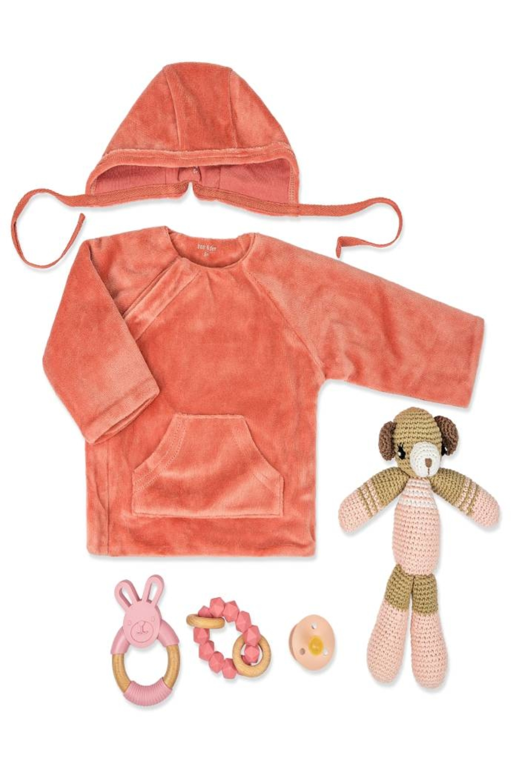 Petit Bateau  New Born Infant Baby Red theme Keep Sake Gift Set by Little Loungers - Front Full Image