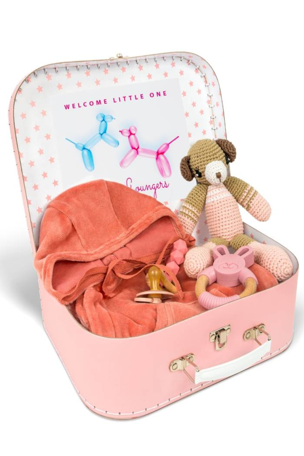 Petit Bateau  New Born Infant Baby Red theme Keep Sake Gift Set by Little Loungers - Main Image
