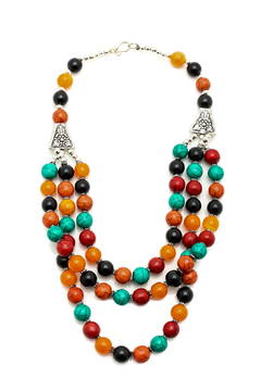 Shoptiques Product: Triple Strand Multicolor