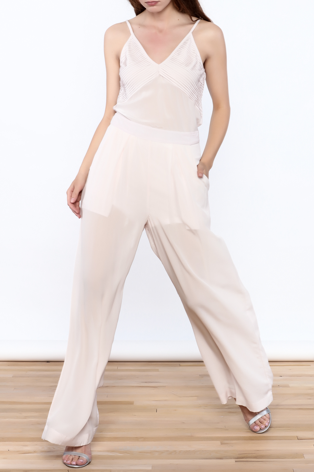 New Friends Colony Eloise Sheer Pants - Front Full Image