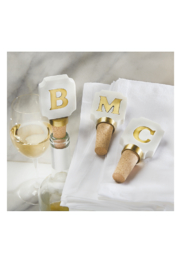 Mud Pie New Initial Wine Topper - Product Mini Image