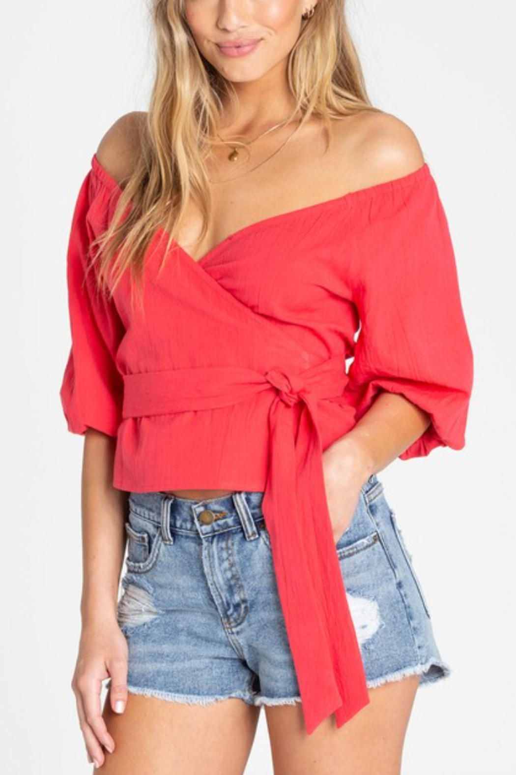 Billabong New Lust Wrap Top - Front Cropped Image