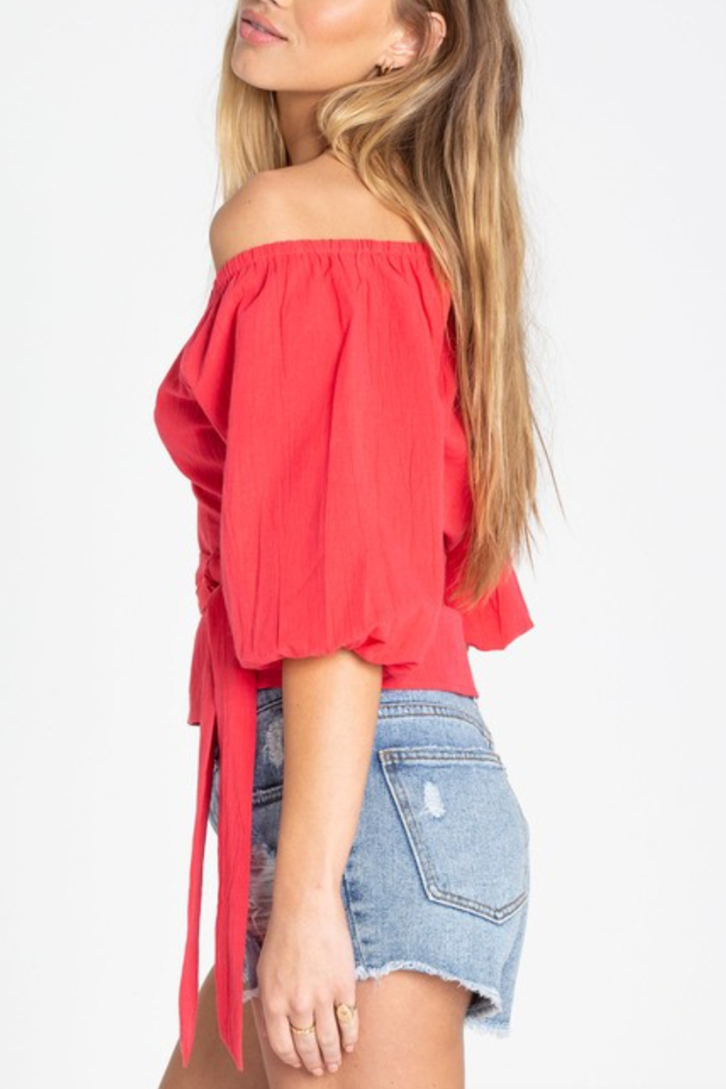 Billabong New Lust Wrap Top - Side Cropped Image