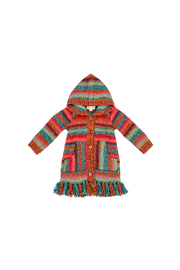 Mimi and Maggie New Mexico Desert Fringe Sweater - Front cropped