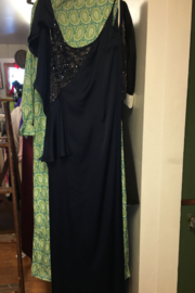 Mikael Aghal New Navy Blue Gown size 10 - Product Mini Image