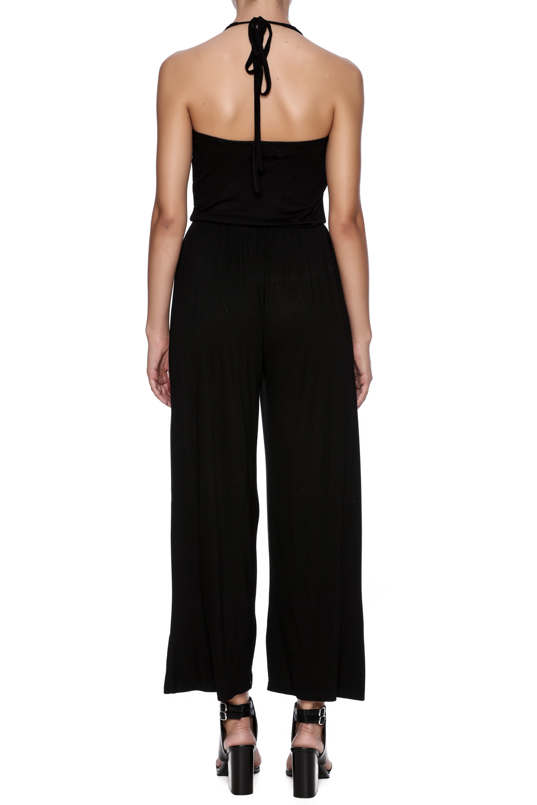 New York Collection Classic Ruffle Jumpsuit - Back Cropped Image