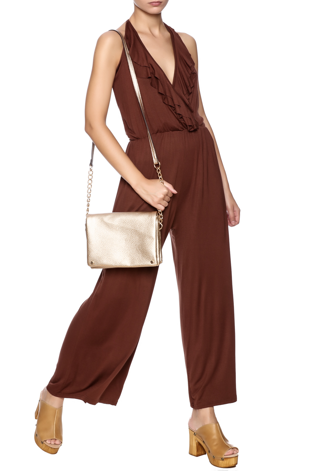New York Collection Classic Ruffle Jumpsuit - Main Image