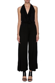 New York Collection Classic Ruffle Jumpsuit - Front cropped