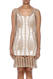 New York Collection Feather Crochet Cover Up - Side cropped