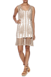 New York Collection Feather Crochet Cover Up - Front full body