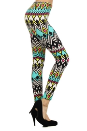 New Fashion Bold Geometric Leggings - Front cropped