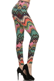 New Fashion Colorful Chevron Leggings - Product Mini Image