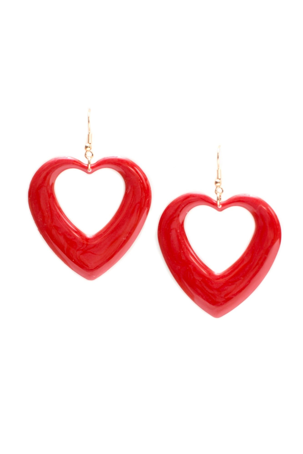New Fashion Cutout Heart Earrings - Front Cropped Image