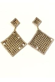 New Fashion Diamond Drape Earrings - Front cropped