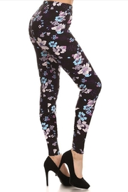 New Fashion Floral Print Leggings - Front cropped