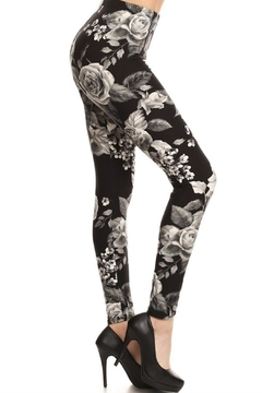 New Fashion Grey Flower-Pint Leggings - Product List Image