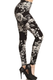 New Fashion Grey Flower-Pint Leggings - Product Mini Image